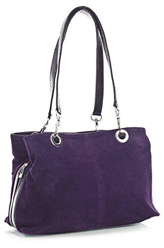 Borse nero Viola a spalla Big donna Handbag Shop SqEEA