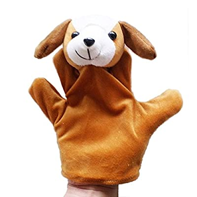 Miklan Cartoon Dog Shaped Hand Puppet Toy, Baby Child Zoo Farm Animal Hand Glove Puppet Finger Sack Plush Toy: Toys & Games