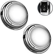 """Five Oceans Marine Cool White LED Interior Dome Light, 4"""""""