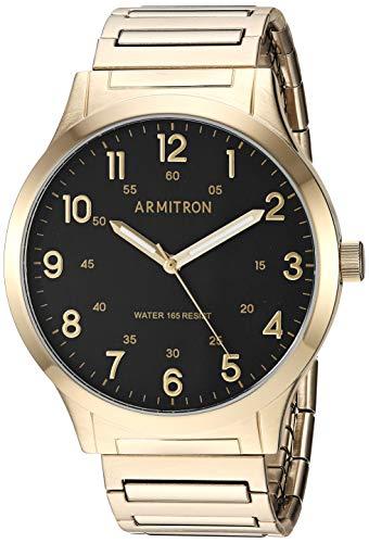 - Armitron Men's 20/5310BKGP Easy-Read Expansion Band Watch