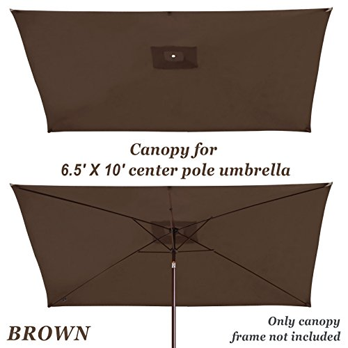 Strong Camel Replacement Umbrella Canopy for 10ft x 6.5 ft 6 ribs (Canopy Only) (Brown) Review