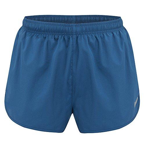 Time to Run Men's Pace Running Short Large Steel Blue/Steel - Inch 1 Split Running Shorts