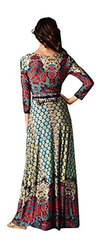 Chelsea Verde Women's Moroccan Mosaic Wrap Maxi Dress 3X Multi