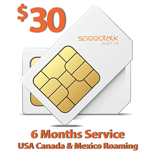 $30 SIM Card for GSM GPS Tracking Kid Child Elderly Pet SmartWatch Car Tracker Devices Locators - 6 Months Service - USA Canada & Mexico Roaming