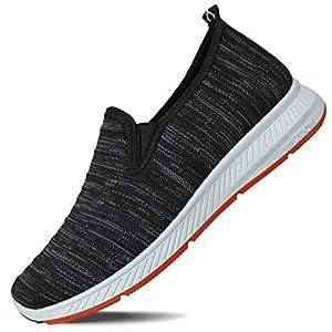 Hawkwell Women's Flat Knit Twin Gore Slip-On Walking Sneaker