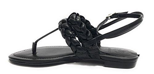 dbc047f94bd Guess Chaussures Femme Sandale Flip Flop Mod Rosalyn Faux Cuir Noir  Ds18gu46 ...
