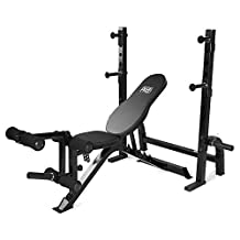 Marcy Adjustable Olympic Exercise Bench with Squat Rack and Leg Developer PM-70210