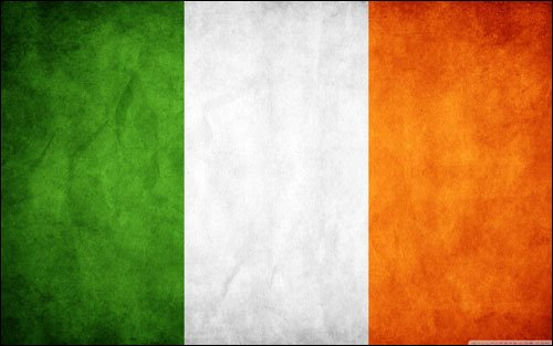 VINTAGE Ireland Flag Sticker (old distressed decal irish)