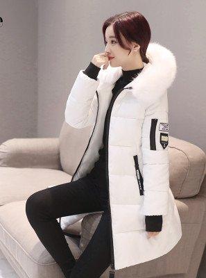 Amazon.com: Baby-QQ Nice Wadded Cotton Winter Jacket Women Faux Fur Collar Warm Coat Female Chaquetas Mujer Parka Feminina White Outwear CJ391: Clothing