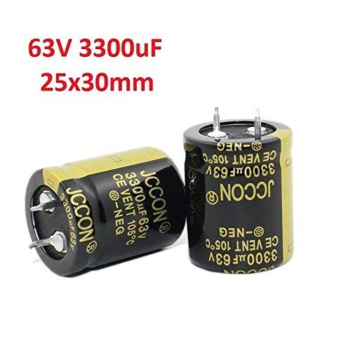 (FidgetGear 2PC 63V 3300uF Amplifier/Audio/Power/Filter Electrolytic Capacitor 105°C 25x30mm)