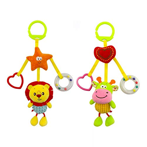 DierCosy Baby Rattle Toy Child Stroller Hanging Bell Newborn Baby Stroller Baby Stroller Hand Bell Toy Cute Wind Chime å±å± 2 Pieces