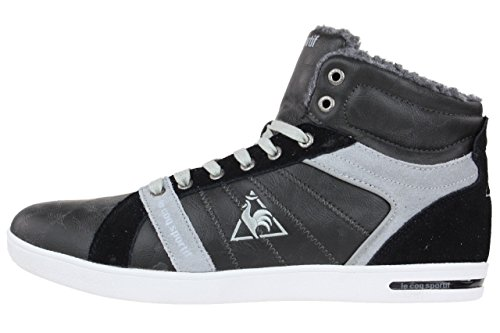 Le coq Sportif Julius Mid AW SR Sneaker Boots padded winterboots leather Dunklelgrau