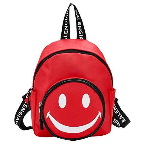 Newborn Baby Boys Convertible Gown - TIFENNY Children Student Double Shoulder Backpack Boys Girls Kids Cartoon Smiling Face Print Backpack Toddler School Bags