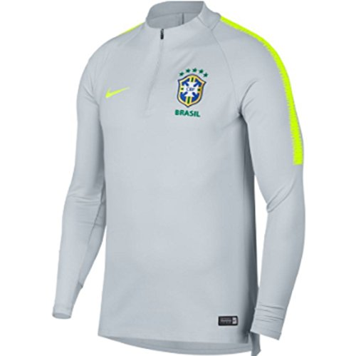936f52785a9 NIKE Mens Brasil CBF M NK Dry SQD DRIL TOP 893331-045 L - Pure Platinum