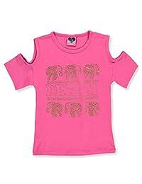 Love To Dress Big Girls' Cold Shoulder Top - Fuchsia, 10-12