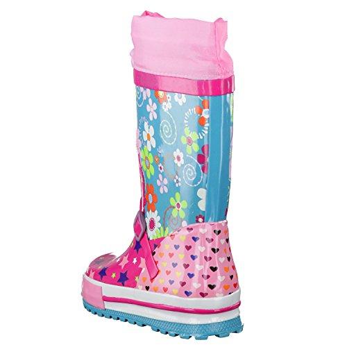 Beck bottes en caoutchouc star fuschia rubber boots Moyen
