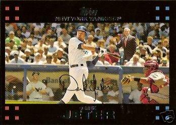 2007 Topps Derek Jeter (2007 Topps #40 Derek Jeter w/ Mickey Mantle & George Bush - New York Yankees - SUPER HOT CARD - Baseball Trading Cards)