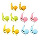 Tea Holder, Ugood 10pcs Cute Snail Shape Silicone Tea Bag Holder Cup Mug Candy Colors Gift Set