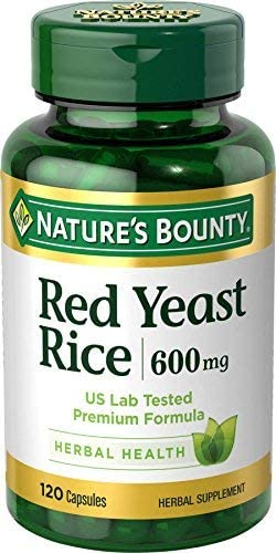 Red Yeast Rice Pills and Herbal Health Supplement Dieary Add 600-mgg Mega-Value 2-Packs 120Count hoT Nature s