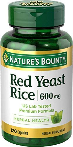 Red Yeast Rice Pills and Herbal Health Supplement Dietary Additive 600mgg MegaValue 2Packs (120Count) QlY#Nature's