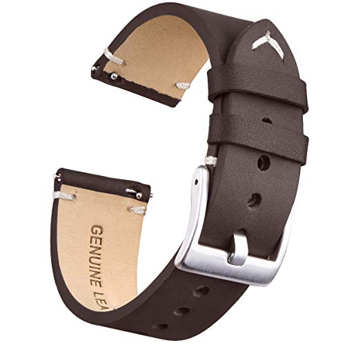 Watch Bands Quick Release Leather Watch Straps Compatible with Fossil Watch for Men ()