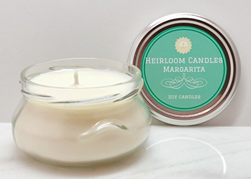 - Margarita Scented Soy Candle in Glass Tureen Handmade, 6oz