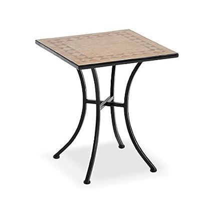 Tavoli Da Giardino In Ceramica Usati.Tavolo In Ferro E Mosaico In Ceramica Zeus Amazon It Giardino E