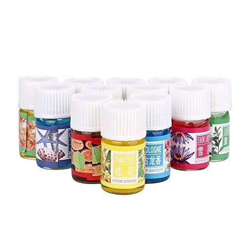(FTXJ 12 Scent 3ML/Box Pure & Natural Essential Oils Aromatherapy Diffuser Skin Care Oils)