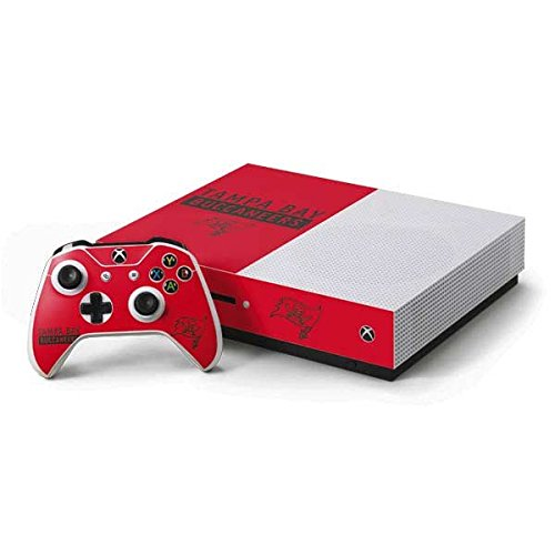 Skinit NFL Tampa Bay Buccaneers Xbox One S Console and Controller Bundle Skin - Tampa Bay Buccaneers Red Performance Series Design - Ultra Thin, Lightweight Vinyl Decal Protection
