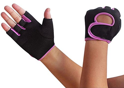 Bike Cycling Gloves for Women Men, Breathable Motorcycle Mountain Bicycle Road Racing Biking Half Finger Gloves Anti-slip Shockproof Gel Pad Sports Gym Fitness Work Exercise Cycling Fingerless Gloves