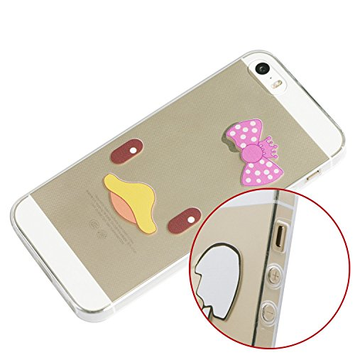 iProtect TPU Schutzhülle Apple iPhone 5 5s Soft Case Silikon - Gel Hülle Cartoon Duck Face