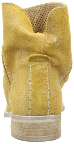 Buffalo London ES 30683 Suede Enrugado, Women's Cold Lined Slip-on Boots Half Length Yellow - Gelb (Giallo 02)