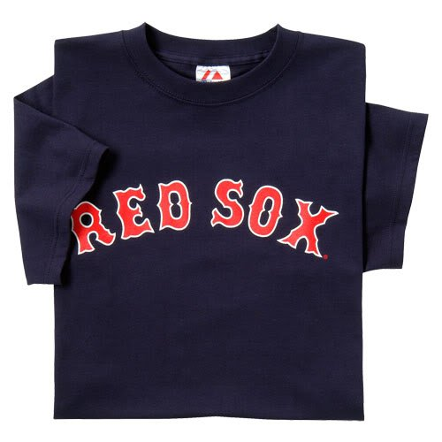 Boston Red Sox (ADULT 2X) 100% Cotton Crewneck MLB Officially Licensed Majestic Major League Baseball Replica T-Shirt Jersey