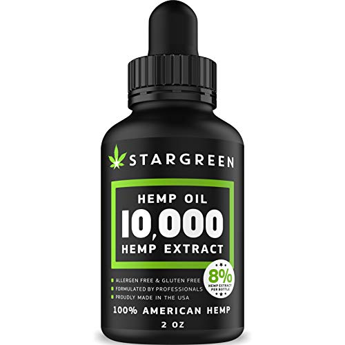Hemp Oil for Pain Relief - 10000 MG - Vitamin D, E & Omega 3, 6, 9 - All  Natural Pain, Anxiety & Stress Relief - Made in USA - Anti-Inflammatory,  Hip