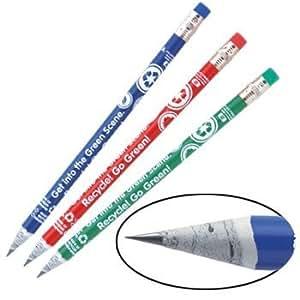 Earth Day Pencils - Recycled Newspaper Eco Pencils- 144 Pencils Per Box