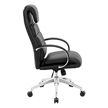 Zuo Lider Comfort Office Chair, Black