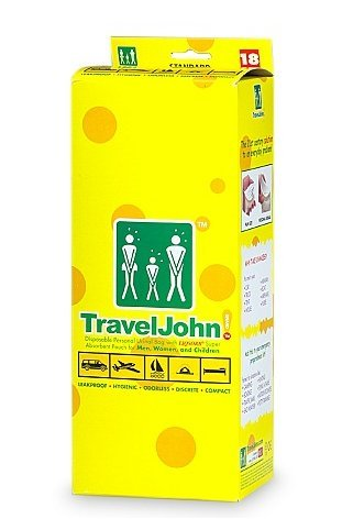 TravelJohn Disposable Personal Urinal Bag for Men, Women & Children 18.0each, 2 PK by TravelJohn (Image #1)