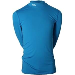 Oakley Men's 432386 Long Sleeve Baselayer Shirt Fluid Blue X-Large