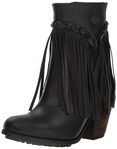 Harley-Davidson Women's Retta Fashion Boot, Black, 7.5 Medium US (Harley Davidson Biker Boots Women)