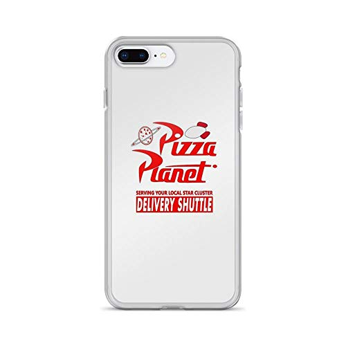 iPhone 7 Plus/iPhone 8 Plus Case Clear Anti-Scratch Pizza Planet Cover Phone Cases for iPhone 7 Plus iPhone 8 -