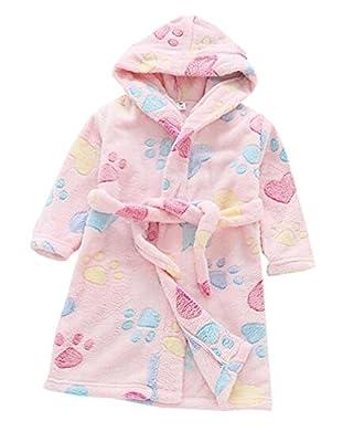 Suplove kids bathrobe flannel cotton Nightdress hoodie nightgown robe