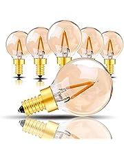Genixgreen G40 Vintage 1W LED filament warm wit 2200K verguld glas ES LED antieke Edison E27