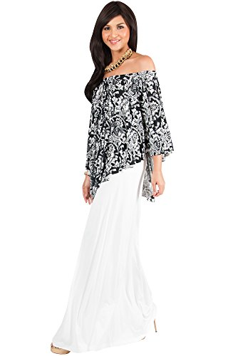 KOH KOH Womens Long Strapless Flowy Poncho Cocktail Evening Gown Maxi Dress