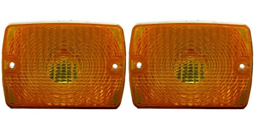 DAT AUTO PARTS Side Turn Signal Parking Light Set of Two Replacement for 87-93 Jeep Wrangler Left Driver and Right Passenger Side Pair CH2520111 CH2520111 ()