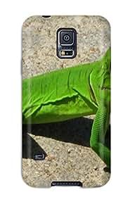 New Premium Flip Case Cover Iguana Photos Skin Case For Galaxy S5
