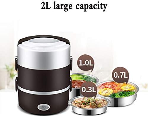 Wenhui Réchauffeur de Nourriture de boîte à Lunch électrique Multifonctionnel de 2L, résistant aux fuites de Nourriture Portable en Acier Inoxydable 304