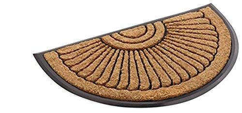 - Kempf Coco Fiber Half Round in-Laid Doormat - Style Your Home from The Outside - Coco Coir Doormat 24