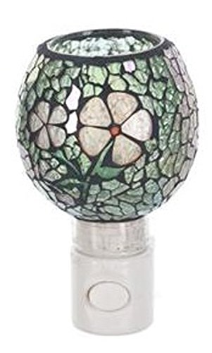- Ganz Green Colored Fractured Glass Shpere Night Light