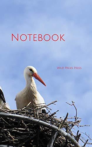 Notebook: Stork nest bird bill animal -