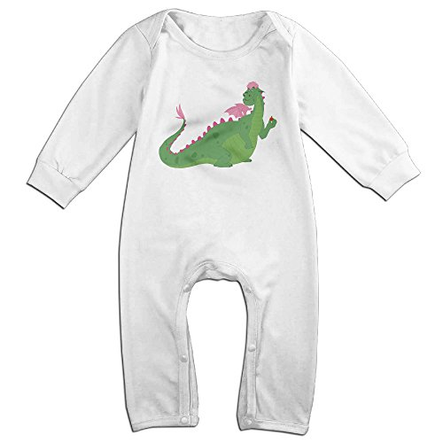Price comparison product image HOHOE Babys Cartoon Dragon Long Sleeve Baby Climbing Clothes White 24 Months